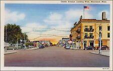 Main Street: Center Avenue, Stores, Moorhead, MN. Linen.