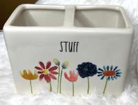 """Rae Dunn (Bloom)  """"STUFF"""" Holder For Bathroom or Office! Brand New!"""