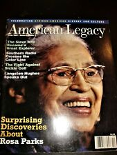 Black Americana Legacy Magazine.Rosa Parks, Langston Hughes