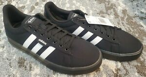 Adidas Daily 3.0 Sneakers Men's Skate Shoes Black/White Canvas NEW Casual Sz 11