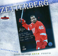 HENRIK ZETTERBERG Signed & Inscribed Detroit Red Wings 8x10 Photo - 70214