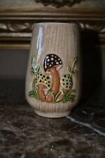 Vintage Decorative Mushroom Ceramic Drinking Glass Arnel Decor Country Rusti NEW