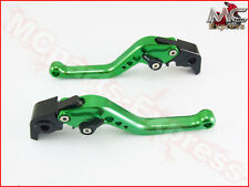 Kawasaki NINJA 300R  2013- 2017 Short Adjustable Brake & Clutch CNC Levers Green
