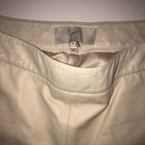 Joie Cream Leather shorts size 6