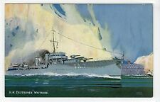 """HMS """"WHITSHED"""": Naval shipping postcard (C15214)"""