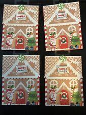 Lot of 4-Santa's Workshop Christmas Gift Card Holders Magnet Closure 4� X 5.5�
