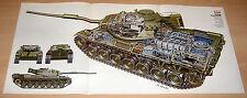 Leopard Panzer - Schnittzeichnung Röntgenbild 1976 - cutaway view