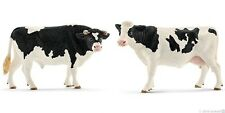 New Schleich 13796 / 13797 - Holstein Bull + Cow Figures  FREE UK DELIVERY !
