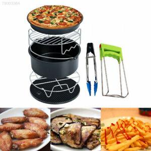 7 Pcs Air Fryer Accessories Set Chips Baking Basket Pizza Pan Home Kitchen Tool
