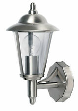Endon Klien uplight outdoor wall light IP44 60W Polished stainless steel & pc