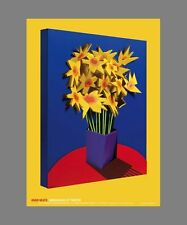 ADAM NEATE DIMENSIONAL PAINTER DAFFODILS 2015 Signed Poster 75.5cm x 50.5cm