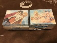 TWO Sword Art Online Ordinal Scale Movie Asuna Suguha Leafa Swimsuit Deck Box