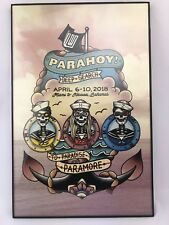 Paramore Parahoy! 3 Deep Search Cruise Poster Hayley Williams Taylor York Zac