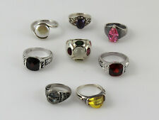 Assortment of Sterling Silver Solitaire Rings - Set of 8