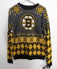 NEW Adult Men's Size SMALL NHL Boston Bruins Ugly Sweater Top Holiday Christmas