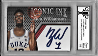 Zion Williamson Facsimile Autograph Custom Art Card Graded Gem Mint 10