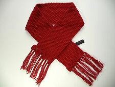 IKKS ÉCHARPE TRICOT GROSSE MAILLE ROUGE À NOEUDS T 3 5 6 7 8  ANS NEUF