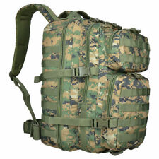 Mil-Tec 36l Large US Assault Patrol Tactical Backpack MOLLE Digital Woodland