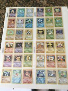 1999 Pokemon Complete Base Set 102/102 49 Shadowless Including Charizard