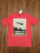 I WANT TO BELIEVE Christmas Santa in his Sleigh Flying Reindeer Shirt 2X NWT
