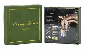 Country Matters Coasters. Set Of 6- EQUINE