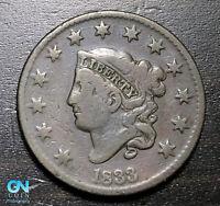 1833 Coronet Head Large Cent   --  MAKE US AN OFFER!  #B3642