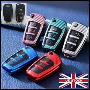 3 Button Key Fob Cover Case For Audi A1 S1 A3 S3 A4 A5 S5 A6 RS6 TT Q3 Q7 t58cf*