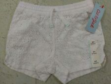 Cat and Jack Toddler Girls Sz 5T Eyelet White Cotton Draw String Casual Shorts
