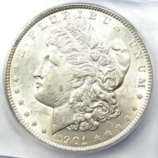 1901 Morgan Silver Dollar $1 (1901-P) - ICG MS60 Details (UNC) - Rare in MS60!
