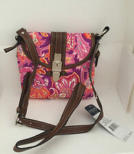 NEW CHAPS RALPH LAUREN TRAVELER EXOTIC PAISLEY PRINTED CROSSBODY SLING BAG PURSE