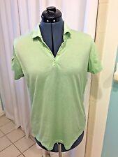 Peter Millar, Women's Light Shirt, Green Double Mercerized Cotton, Size L
