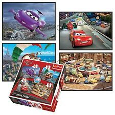 Trefl 4 In 1 35 + 48 + 54 + 70 Piece Boys Kids Disney Cars McQueen Jigsaw Puzzle