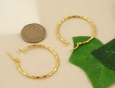 Sassi SIL1314Y Ladies 375 9ct Yellow Gold Creole Hoop Wedding Band Earrings