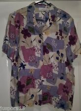 Alfred Dunner NWT Woman's Blue/Purple/White Floral Button Down Shirt Size 18