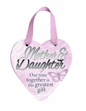 """Delicate Words Heart Hanger """"Mother and Daughter"""""""