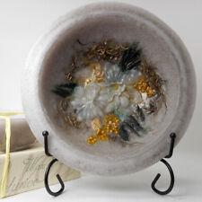 "Habersham Wax Pottery Bowl Garden Vanilla - 7"" Wax Vessel Flameless Usa Made"