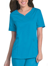 {SM} Medical Uniform Scrub Urbane Ultimate Chloe Sweetheart Neck Tunic Waterfall
