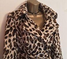 Karen Millen Leopard Poney faux fur trench coat Rrp £ 350 UK 8 Ladies Poison
