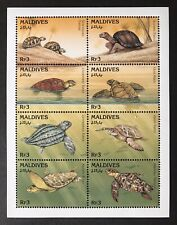 MALDIVES TURTLES STAMP SHEET 1995 MNH MARINE LIFE SEA TURTLE HAWKSBILL WILDLIFE