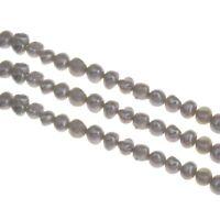 EDELSTEIN SÜSSWASSERPERLEN ZUCHTPERLEN REISKORN 8mm Grau Barock Perle BEST D492