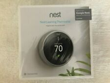 New Google T3007ES Nest Learning Thermostat - Stainless Steel
