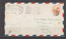UNITED STATES, APO 713., New Guinea, c1943 6c. Airmail Envelope to Australia.