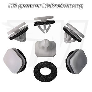 15x Outside Fairing Mounting Clips + Seal For Ford Flex W713590S300