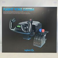 Logitech G Saitek Pro Flight Yoke System Flight Simulator Throttle Quadrant New