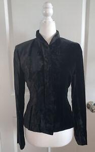 Vintage Tom Ford era Gucci Black Velvet Tuxedo Blazer Jacket WOMENS 38 US 2 XS