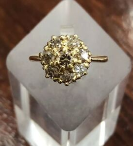 ESTATE - Vintage Diamond Cluster Ring - With Valuation