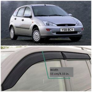FE30598 Window Visors Guard Vent Wide Deflectors For Ford Focus Sd/Hb 1998-2004