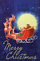 Merry Christmas Santa Garden Flag Banner 12x18 2-Sided Heavy Duty Yard Decor