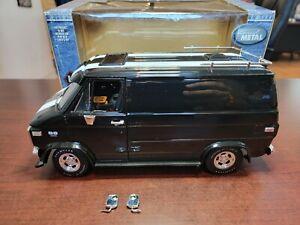 1974 Chevy Custom Van - Black 1:18 Highway 61 Die-Cast Replica
