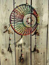 Hand Made Large Rainbow Hemp Dream Catcher Dreamcatcher Mobile Wall Hanging